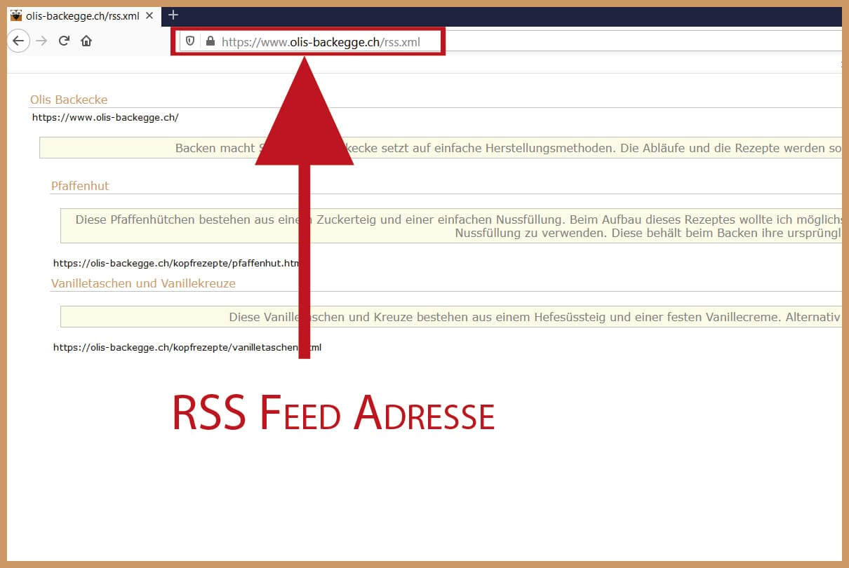 RSS Feed Adresse